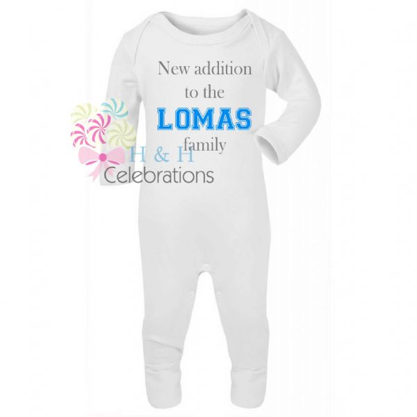 New Addition To The Family Personalised Baby Romper